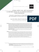 Hacia Una Historia Crítica de Arte Paleolítico. La Historia Social de Las Ciencias Sociales Como Paradigma