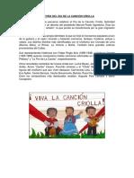 Historia Del Dia de La Canción Criolla