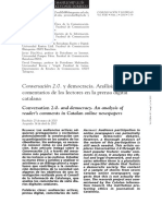 2010 - Conversation 2.0. and democracy. An analysis of reader´s comments in Catalan online newspapers..pdf