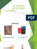 Disfraz de Material Reciclado de Pedro Picapiedra