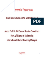 Differential Equations MATH1310