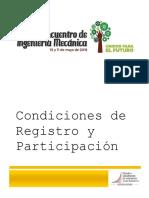 Parámetros Base Para Participación en VII Encuentro de Ing Mecánica NEW