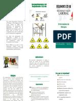 Brochure, prevencion de riesgos