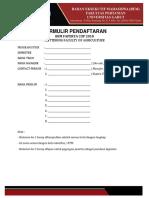 Formulir Pendaftaran Bem