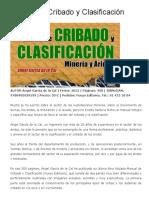 Manual de Cribado y Clasificación