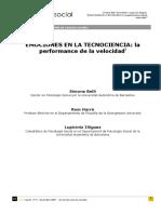 """""""EMOCIONES en LA TECNOCIENCIA La Performance de La Velocidad"""" (Simone Belli, Rom Harré y Lupicinio Iñiguez)"""