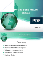 Pricing Bond Future Option