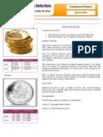 Commodity Fundamental Report 22-09-2010