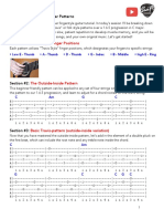 Beginner Fingerstyle Guitar Patterns