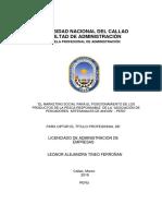 Tesis 1 Marketing Social Para El Posicionamiento de Los Productos de La Pesca Responsable de La Asociación de Pescadores Artesanales de Ancón