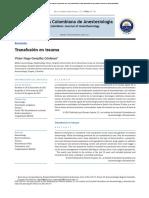 Transfusion in Trauma SCARE 2012