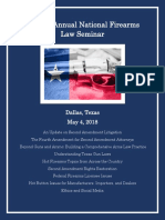 21st Annual National Firearms Law Seminar