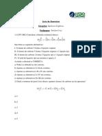 Lista de Exercícios Pré-Uni