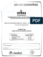 Faurgs 2013 Ufrgs Assistente Em Administracao Prova