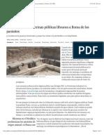 2016 01 10 - El Pais - Ni los baños ni las letrinas públicas libraron a Roma de los parásitos