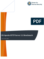 CIS Apache HTTP Server 2.2 Benchmark v3.4.1