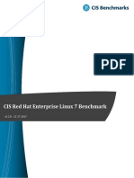 CIS Red Hat Enterprise Linux 7 Benchmark v2.2.0