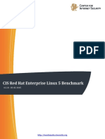 CIS Red Hat Enterprise Linux 5 Benchmark v2.2.0