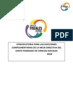Convocatoria a elecciones complementarias MD CF Ciencias Sociales 2018