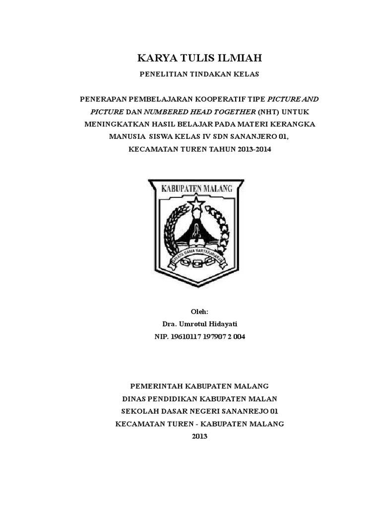 Cover Karya Tulis Ilmiah Doc