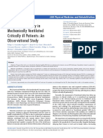 Functional Mobility in MechanicallyVentilated Critically Ill Patients an Observational Study