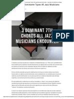 3 7th Acorde Dominante Types All Jazz Musicians Encounter - Aprenda Los Estándares Del Jazz