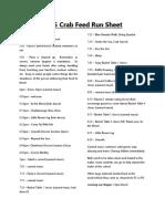 2015 Crab Feed Run Sheet