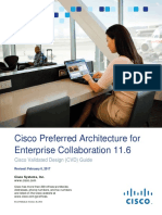 Cisco Preferred Arch for Enterprise Collab 11.6 CVD