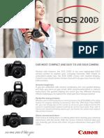 EOS 200D TechSheet