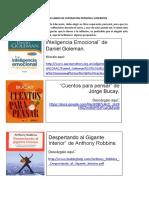Lista de Libros de Superación Personal Sugeridos