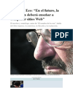 "Entrevista a Umberto Eco"""