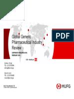 2016 - MUFG Global Generic Pharma Industry Review