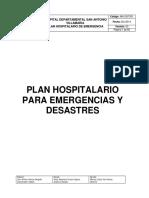 Plan Hospitalario Para Emergencias Año 2014