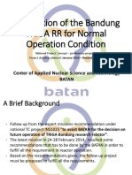Preparation of the Bandung TRIGA RR for Normal