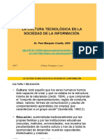 Marques - La Cultura Tecnológica en La Sociedad de La Información