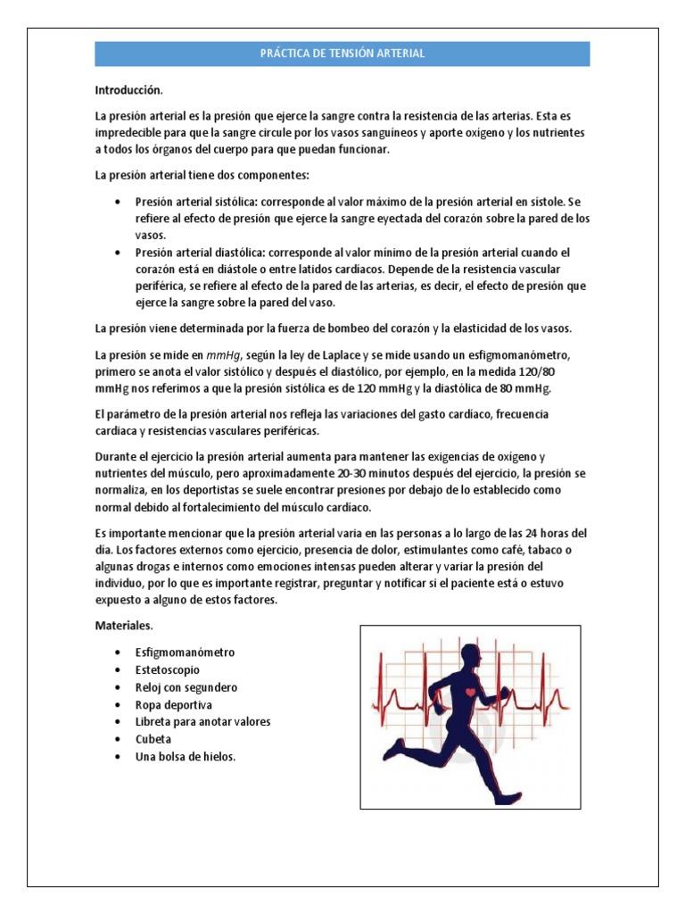 Aumento de la presión arterial diastólica durante el ejercicio