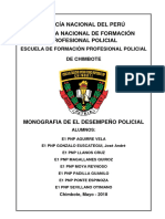 Monografia Desempeño Policial