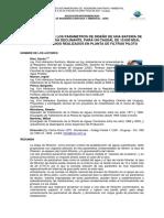 Determinacion de Parametros de Diseño de Filtros Rapidos