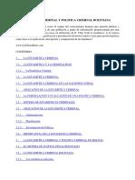 La Estadística Criminal y Politica Criminal Boliviana