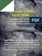 Impresiones y Críticas LEY 30364