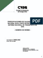 CALIDAD DEL GAS NATURAL EN COLOMBIA - CREG.pdf