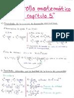 desarrollo matemático 5