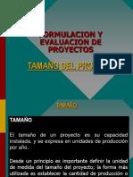 Tamaño Del Proyecto- formulación y evaluación de proyectos