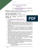 Práctica 1 - Estructura de Los Procesos Industriales