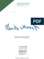 Exposition Monet, son Musée - Dossier de Presse
