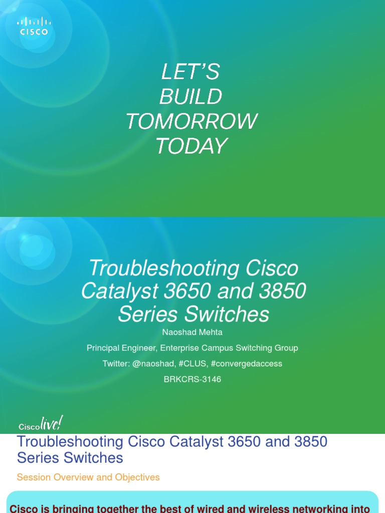 BRKCRS-3146 | Booting | Cisco Systems