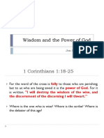 Wisdom and the Power of God