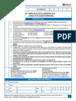 Objective Questionnaire BT-MDRA B-School Survey 2018