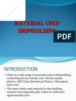 Material Used in Ship Building