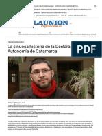 La Sinuosa Historia de La Declaración de La Autonomía de Catamarca _ La Unión Digital